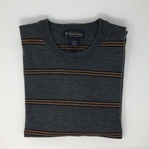 Brooks Brothers Striped Merino Wool Sweater Size L